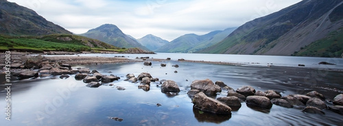 Fotografie, Obraz Dramatic mountain lake view - Wasdale, Lake District, UK.