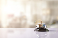 Service Bell On Hotel Receptio...