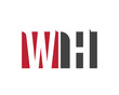 WH red square letter logo for hotel, health, house, home, hall