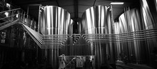 Stainless Steel Tank At The Winery For Wine