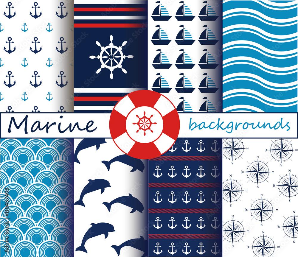 Marine patterns set