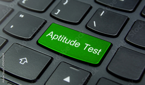Business Concept: Close-up the Aptitude Test button on the keyboard and have Lim Wallpaper Mural
