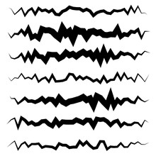 Abstract Irregular Line Set. D...