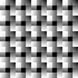 Mosaic of squares. Abstract monochrome background. Overlapping f