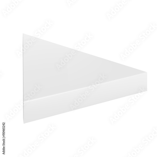 Vector Packaging White Gray Thin Triangle Packaging Box On Isolated