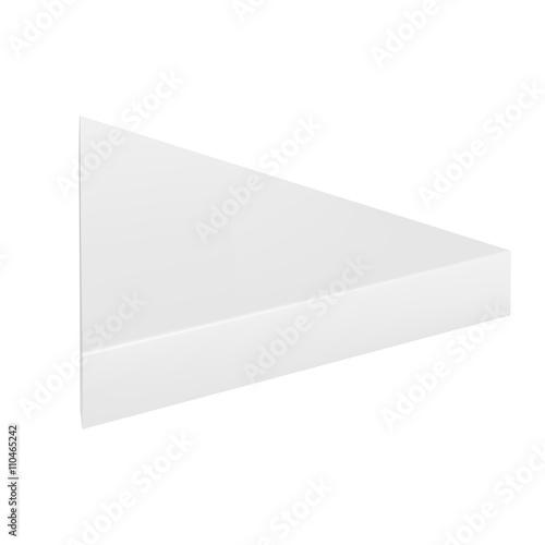 Vector packaging white gray thin triangle packaging box on isolated vector packaging white gray thin triangle packaging box on isolated white background mock maxwellsz