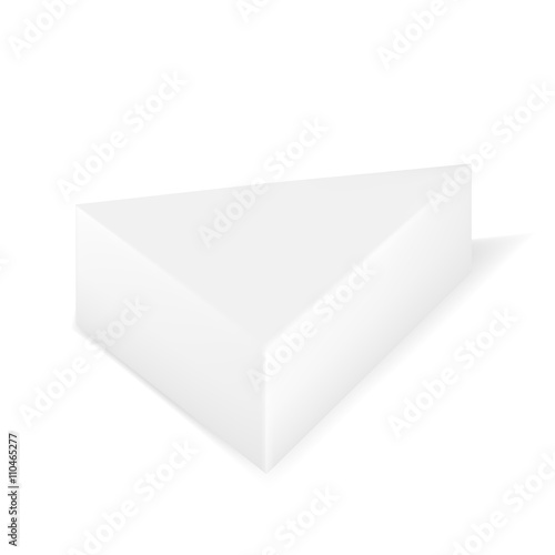 Vector Packaging White Gray Triangle Packaging Box On Isolated