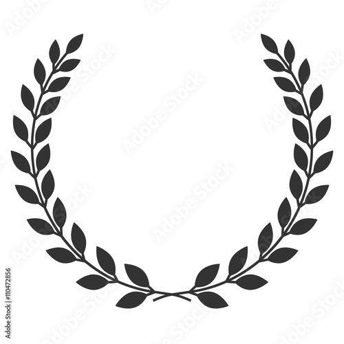 Photo  A laurel wreath icon - symbol of victory and achievement