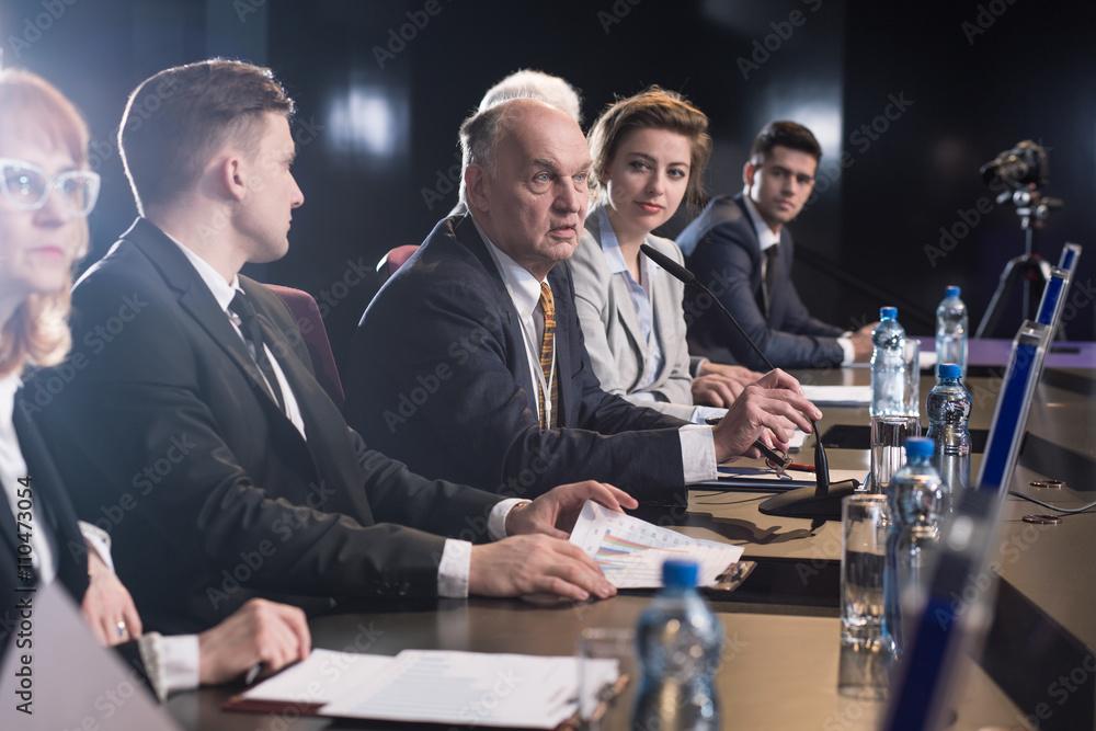 Fototapeta Business seminar or conference