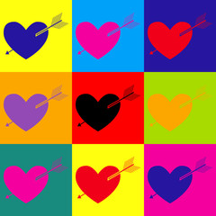 Fototapeta Popart Arrow heart icon