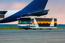 Airport Bus In The Morning Light