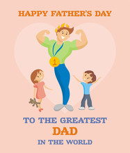 Father's Day Greeting Card. ...