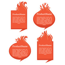 Vector Collection Of Fire Forms And Frames For Your Text.