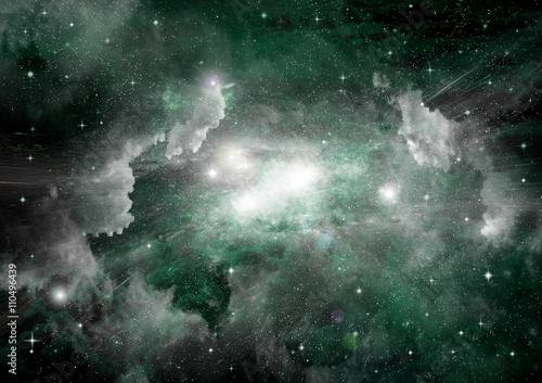 galaxy in a free space Fotobehang