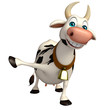 fun Cow funny cartoon character