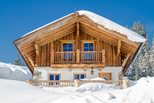 Mountain Chalet In The Alps In...