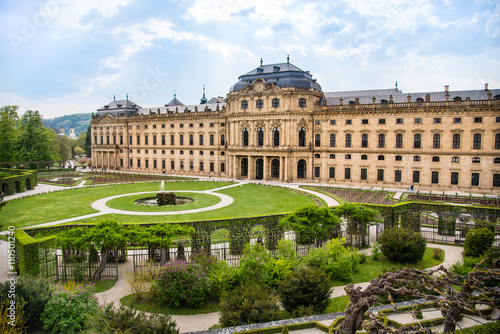 WURZBURG, GERMANY - MAY 5: The Wurzburg Residence in Wurzburg, Germany on may 05, 2016 Fototapet