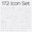 Leinwanddruck Bild - Icon Set Isolated on Grey Background