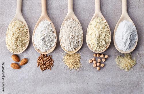Various gluten free flour Fototapeta