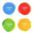 Set of round colorful vector shapes. Design elements.