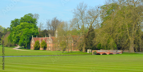 Photo  Bridge and Stables Audley End House Essex England.