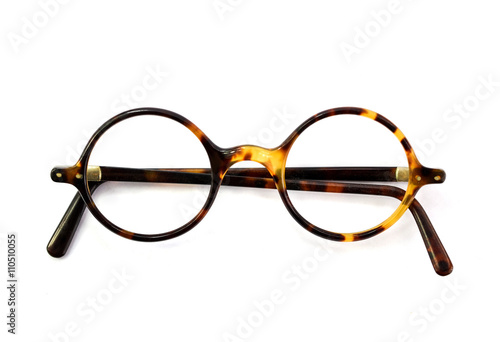 Fotografía  Vintage round glasses isolated on white background