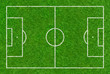 Leinwandbild Motiv Fußballspielfeld