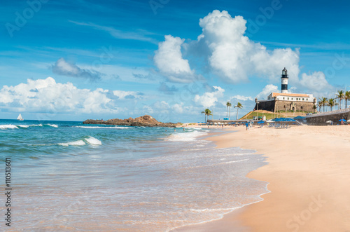 Fotografía  Barra Beach in Salvador de Bahia Brazil