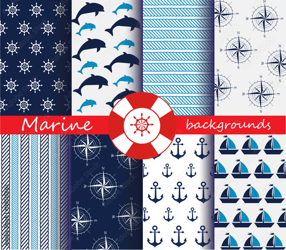 Marine patterns set
