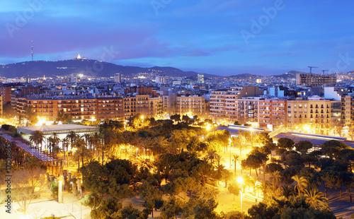 Barcelona skyline from Plaza Espana - 110516845