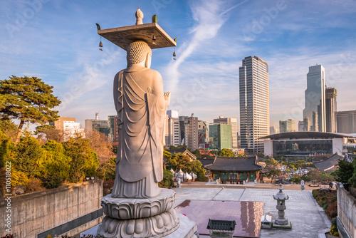 Foto op Canvas Seoel Bongeunsa temple in Seoul City, South Korea.