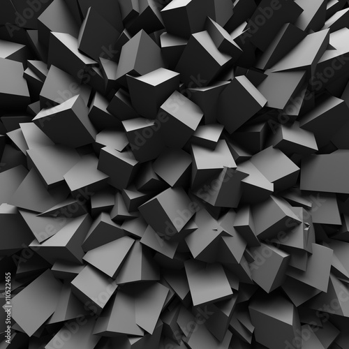 Abstract Dark Chaotic Wall Design Background