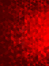 Red Abstract Geometric Triangle Vertical Background - Vector Illustration   Abstract Polygon Vector Pattern - Portrait Orientation