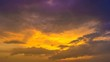 5 in 1!The flow of cloud against the sunset. Time lapse
