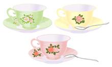 Vector Set Of Cups Of Tea In V...