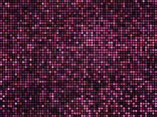Abstract Mosaic Background. Square Pixel Mosaic. Lights Red Disc