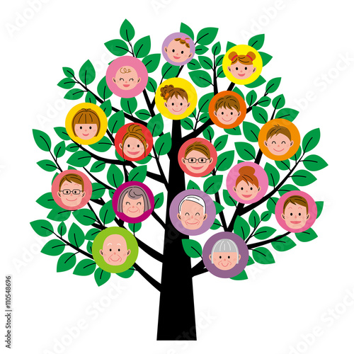 Fotografie, Obraz  家族の樹