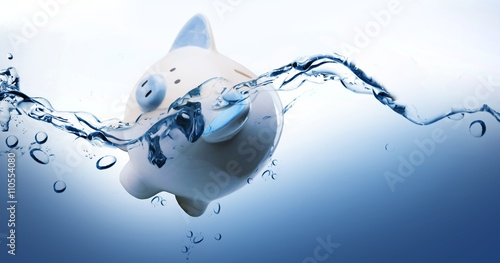 Composite image of piggy bank