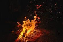 Night Bonfire On The River
