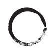 circle shape vector black grunge background