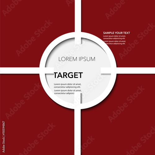 Photo  Modern target frames with paper cut and shadow effect