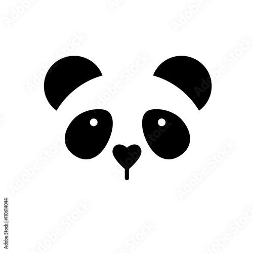 Photo  panda bear template