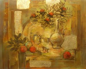 Fototapetastill life handmade painting