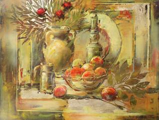 Naklejkastill life handmade painting