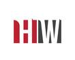 HW red square letter logo for workshop, world, work, west, wealth