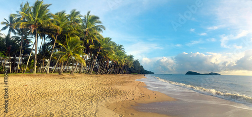 Printed kitchen splashbacks Australia Panoramic view of Palm Cove in Queensland Australia