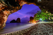 Famous Phranang cave at Raylay Railay Beach, Krabi : Thailand
