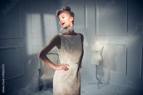 Fotografie, Obraz  Portrait of a beautiful and elegant lady