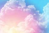 słońce i chmura tła w pastelowych kolorach - 110634613