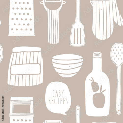 Easy Recipes Seamless Pattern Cooking Vector Repeating Background Kitchen Surface Design For Napkins Kitchen Towels Wrapping Paper Wallpaper Buy This Stock Vector And Explore Similar Vectors At Adobe Stock Adobe Stock